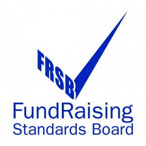 Image shows the blue and white tick logo of the Fundraising Standards Board