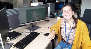 Emma Carroll, the Data and Visualisation intern (aka 'Witchfinder General') at the University of Edinburgh